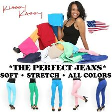 COLORFUL Stretchy Soft SKINNY Jeans NEW Pants Pencil Jeggings Leggings~ LOLLIPOP