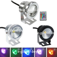 Waterproof 10W RGB/Warm/Cool White LED Underwater Light Pool Pond Spot Light 12V