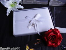 Wedding Guest Book 3design's available all satin covered, lovely momento to keep