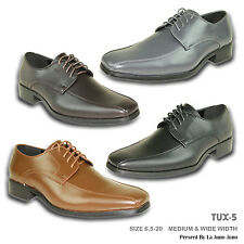 VANGELO New Men Dress Shoe TUX-5 Oxford Formal Event Bicycle Toe Wrinkle Free