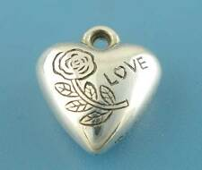 Wholesale DIY Jewelry Silver Tone Valentine Love Heart Charms Pendants
