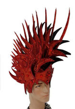 Red Blood Roman Warrior Headdress Costume Men's Knight