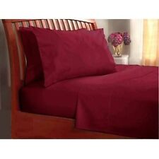800TC Fitted Sheet 1-Piece Burgundy Solid 100% Cotton--Select Sizes & Extra Deep