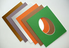 Photo / Picture Mounts Oval aperture various sizes and colours
