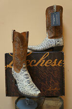 MENS LUCCHESE COWBOY WESTERN BOOTS! EXOTICS! EASTERN RATTLESNAKE! N9610.54-NIB!