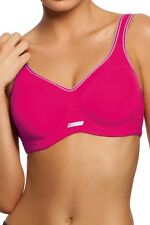 Triumph TriAction Competition Padded Underwired Sports Bra in Pink, RRP $49.95
