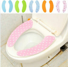new cheap hot sell spot patterns pair toilet seat Warmer Cover cushion sticker