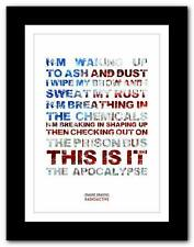 IMAGINE DRAGONS Radioactive ❤ song lyrics typography poster print - A1 A2 A3