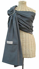 Lightly Padded MAYA WRAP Baby Ring Sling Carrier GRAPHITE #75  NEW COLOR!!!