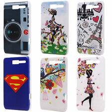 Lovely Owls Camera Pattern Hard Back Protect Fit Case Cover for Motorola Razr D1