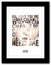 ❤ CHVRCHES -  Recover ❤ song lyrics typography poster art print - A1 A2 A3 or A4