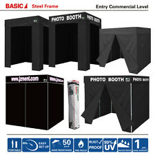 Eurmax Flat Top PHOTO BOOTH Franchise Canopy Tent W/ Full Walls and Carry Bag