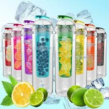 Sport Water Bottle With Fruit Infuser Triton BPA Free 27 oz. Multi-Color