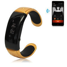 LCD Wireless Bluetooth Smart Wrist Bracelet Watch Sync Phone Call For Cell Phone