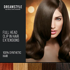 Full Head Synthetic Clip In Hair Extensions And Hair Pieces