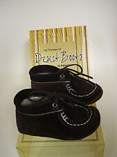 Baby boy 1st pair of Desert Boots genuine leather brown NIB fast free shipping
