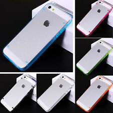 Glossy Clear Back Hard Bumper Frame Case Cover Skin for iPhone 4 4G 4Gs 4S