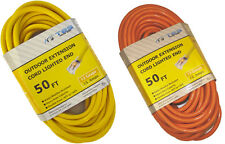 50 Ft 12/3 12 Gauge Heavy Duty Power Extension Cord Lighted End Variety of Color