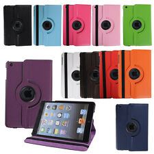 360 Rotating Magnetic PU Leather Cover Stand Case For Apple iPad mini 2 2nd New