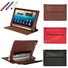 3in1 Folio back stand PU Leather Case For Lenovo YOGA 10 B8000 Tablet+Film+Pen