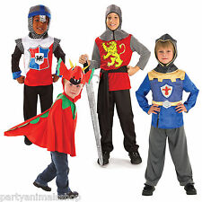 Boys Medieval Brave Knight St George Dragon Fancy Dress Party Costume
