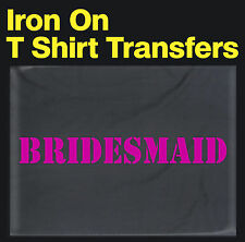 Bridesmaid Hen Party Wedding Iron On Transfer Create your own t shirt