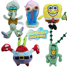 1 PCS SPONGEBOB SQUAREPANTS CARTOON CHARACTER FIGURE SOFT PLUSH KID TOY