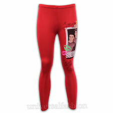 NEW GIRLS 1D ONE DIRECTION SIGNED LEGGINGS RED MERCHANDISE AGE 7 8 9 10 11 12 13