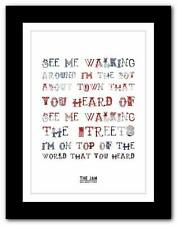 ❤ THE JAM Boy About Town ❤ song lyrics typography poster art print - A1 A2 A3