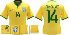 *14 / 15 - NIKE ; BRAZIL PLAYER ISSUE HOME SHIRT SS / GONCALVES 14 = SIZE*