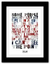 ❤ THE JAM Going Underground ❤ song lyrics typography poster art print - A1 A2 A3