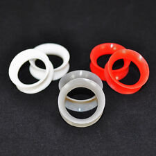 Thin Silicone EarSkin Flexible Flesh Tunnels Plugs Gauge Earlets~ 3 Pairs~