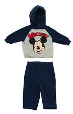 Mickey Mouse Disney Cartoon Baby Fleece Hoodie And Pants Two Piece Set