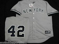 MARIANO RIVERA GREY ROAD YANKEES JERSEY NEW MAJESTIC
