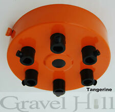 TANGERINE Ceiling Rose Multi Outlet with CORD GRIP 1 2 3 4 5 6 7 Way Outlet