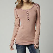 Fox Racing Fox Girl Exhilarate Long Sleeve Henley Orange Sherbet