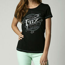 Fox Racing Fox Girl Thundering Crew Tee Shirt Black