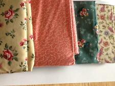 Floral Designs Spring, Beige, Purple, Green, and Pink  Fabric 100% Cotton NKM