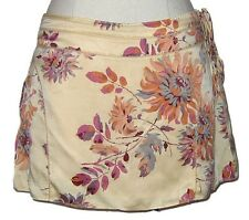 NWT Abercrombie & Fitch Women Beige Champagne w Flowers Mini Skirt $59.50