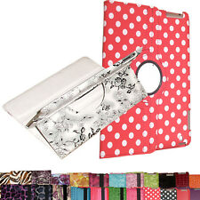 """Amazon Kindle Fire HD 7 7"""" HDX 360 Rotating Magnetic PU Leather Case Smart Cover"""