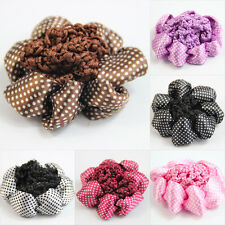 New women Bun Cover Snood Hair Net Ballet Dance Skating Crochet decor