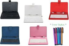 "7"" inch PU Leather Micro USB Keyboard Case for HP Slate 7 Extreme 7 inch"
