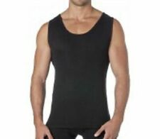 Thermals Mens 100% Pure Merino Wool Singlet Tank Top Black (sz S-XL) Sz S M L XL