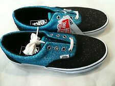 Vans Off The Wall Glitter Shoes Scuba/Black & Blue Torques New VN-OQFK669