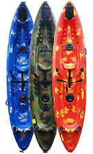 KAYAK Sit on TopTandem 2 Person with 4 Fishing RodHolders & 2 Backrests. Riber