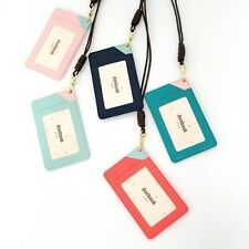ID Card Holder Credit Card Case Neck Strap Card Cover Student Pass Case 18K GP
