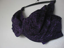 B.NEW florence and fred ( tesco ) purple lace u/wired bra SIZE 34-36-38 GG-H-J-K