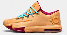 Nike Zoom KD VI 6 EXT Gum QS 639046-900 Kevin Durant Rubber Band Wheat OKC