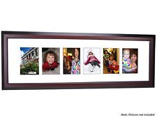 Creative Frames 6 Opening Mahogany Picture Frame w/Glass holds 4x6 in 10x32 mat