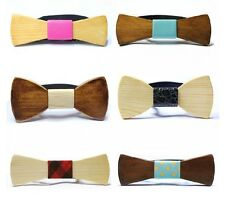 Wood Wooden Mens Fashion Bow Tie Party Wedding Fancy Dress Groom Gift Valentine